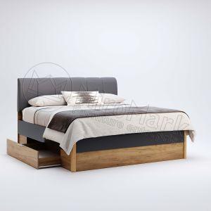 """Ліжко """"Рамона"""" 1,6х2,0 з м'якою спинкою, шухлядами без каркасу"""
