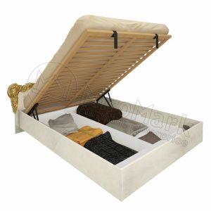 """Ліжко """"Вікторія"""" 1,8х2,0 з м`якою спинкою, підйомним механізмом та каркасом"""