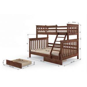 """Ліжко """"Скандинавія"""" 1400*900*1900 Праве+шух"""