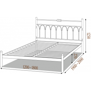 "Ліжко ""Метал Дизайн Тіффані 140/200"