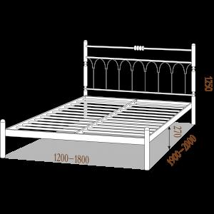 "Ліжко ""Метал Дизайн Тіффані 160/200"