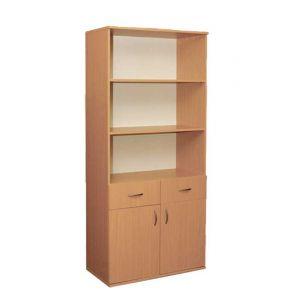 Шафа книжкова з 2 шухлядами 2-дверна