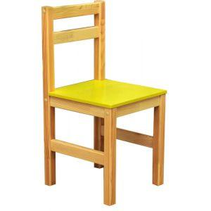 Стілець дитячий з натуральної древини,сидіння з МДФ (ростова група №3)